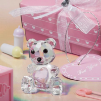 Crystal Teddy Bear With Pink Heart
